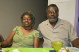 members of theTrue Light Baptist church showed their appreciation to their minister of 28 years with an appreciation banquet at the Lake Como Community Center